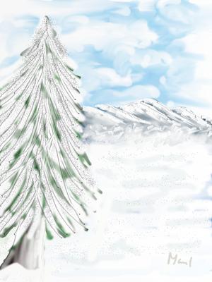 Winterlandschaft, gemalt mit ArtRage