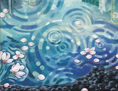 「雨上がりの正午」F0 油彩