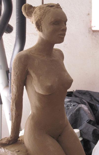 sculpture femme nu argile nouveausculpteur 2014.