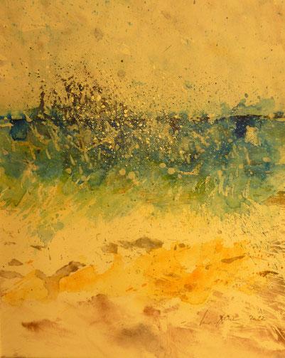 Stürmisches Meer-2012 (Aquarell)