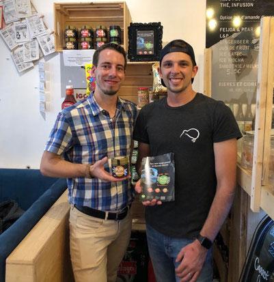 Marshall (Kai Iwi Café) et Adrien (Puri New Zealand)