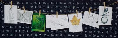 Postkarten Honigholz