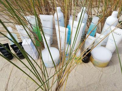 Produits cosmétiques Thalac utilisés à l'Institut Bleu Océan Cazaux
