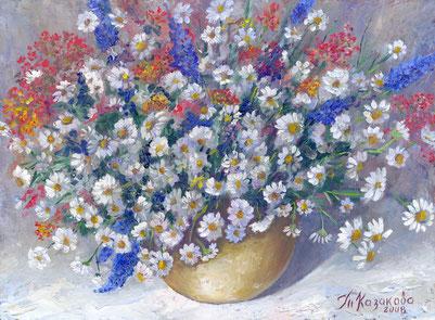 """Татьяна Казакова. """"Ромашки. Разноцветье"""", 2008"""