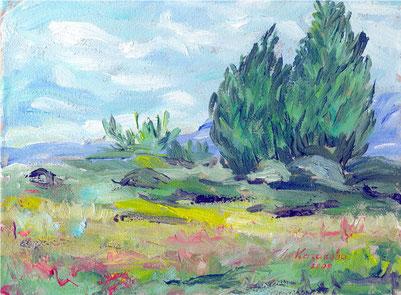 """Татьяна Казакова. """"Пейзажи Винсента. Пейзаж № 1"""", 2008"""
