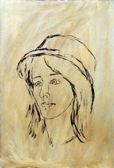 """Татьяна Казакова. """"Портрет Зои в шляпке"""", 2002"""
