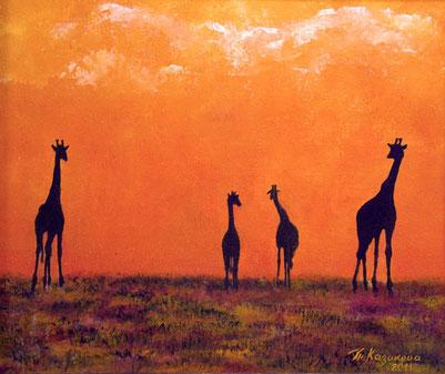 """Татьяна Казакова. """"Где-то в жаркой Африке"""", 2011"""