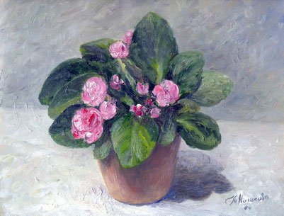"Татьяна Казакова. ""Розовая фиалка"", 2004"
