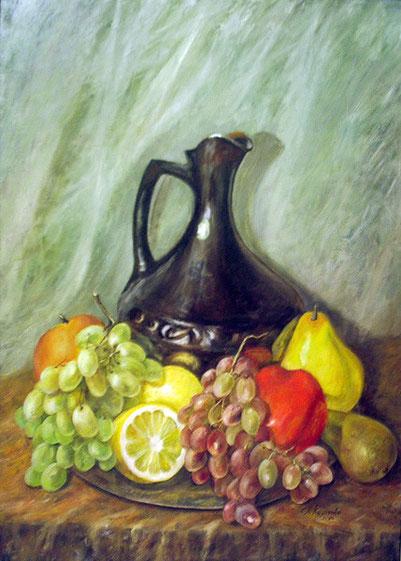 "Татьяна Казакова. ""Натюрморт с виноградом"", 2006"