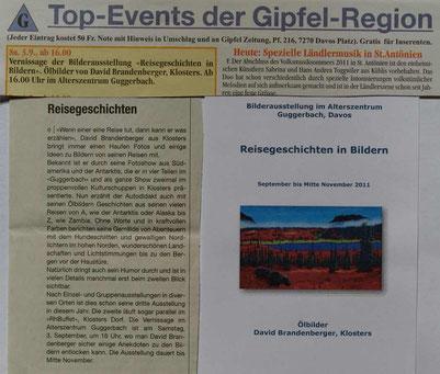 Bild:Ausstellung,Guggerbach Davos,d-t-b.ch,d-t-b,David Brandenberger,Presse,
