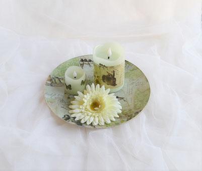 Glas mit handgefertigter Seife