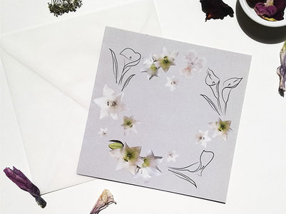 besondere Trauerkarte, Recyclingpapier, Kathrins Papier