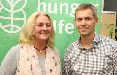 Sabine Weihmann und CEO der Welthungerhilfe Dr. Till Wahnbaeck