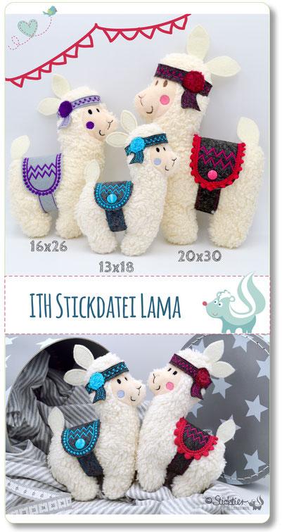 Stickdatei Lama ith von Sticktier
