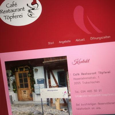 Druckatelier46 Mülchi - Foto Café Restaurant Töpferei - WebDesign - Neugestaltung  Webseite