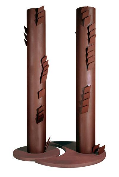 VIème Commandement - La science, tu ne détourneras pas (Des manipulations génétiques) Acier patiné et verni, 318x190x166cm
