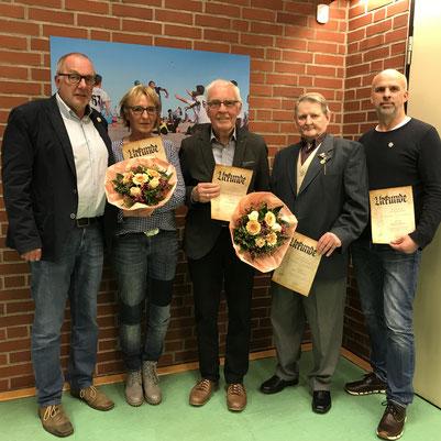 Thomas Ziegler, Elke Reins (stellvertr. für Brigitte Wehlau), Dietert Brünjes, Horst Brückner, Hagen Bremer