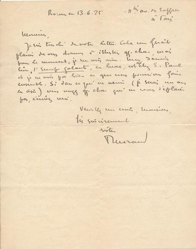 ¨Paul Morand lettre autographe signée achat vente