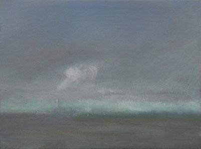 Dampf, Öl/Leinwand, 30 x 40 cm, 2019