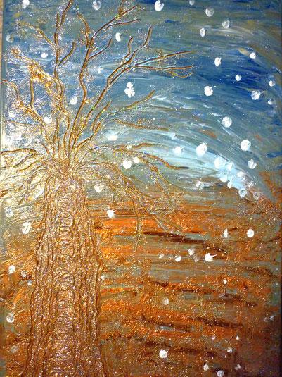 Der Wunderbaum 50x70cm Acryl