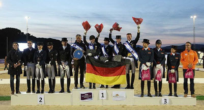 Podium coupe des nations dressage Vidaudan