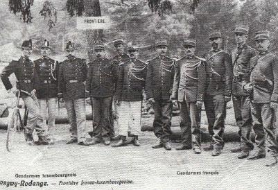 1906 - Luxemburgische und französische Gendarmen