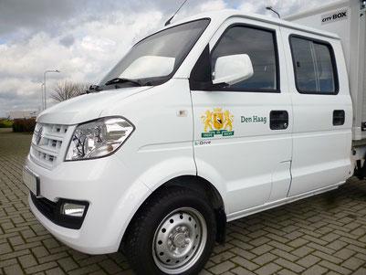 Kleintransporter Doka mit Elektromotor
