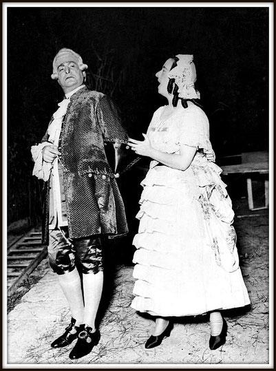 Uberto - La serva padrona - con Conchita Badía (Serpina) - Montevideo, Parque Rivera - 14.2.1939