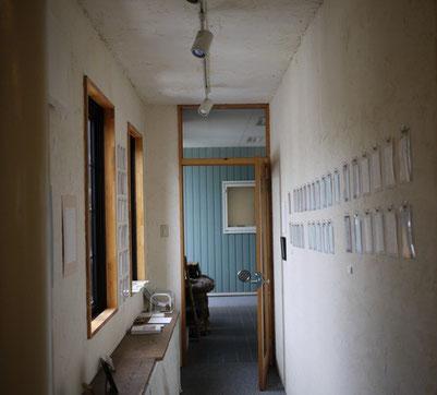 アートセンターコスモスの入り口。壁はスタッフの皆さんが自分たちで塗りました。