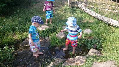 Camp King Park im Sommer - Erfrischung am Bach