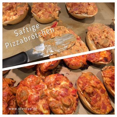 Pizzabrötchen auf dem Zauberstein von Pampered Chef