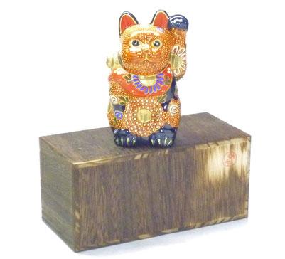 九谷焼通販 招き猫 デコ盛 4号 千客万来 左手
