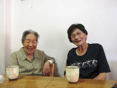 老人クラブ、かなめ会の方々  お元気ですてきな仲良しお二人
