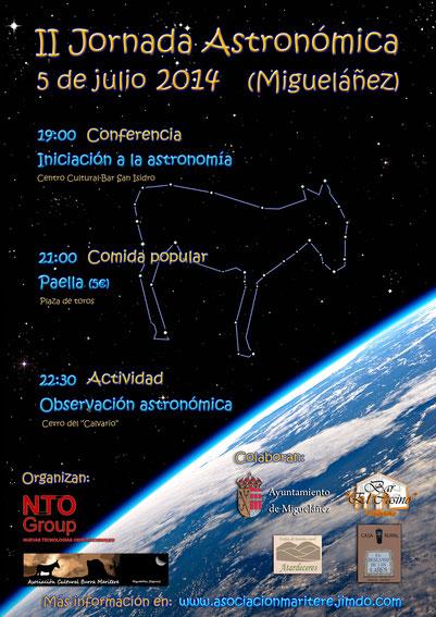 Cartel II Jornada Astronómica de Migueláñez