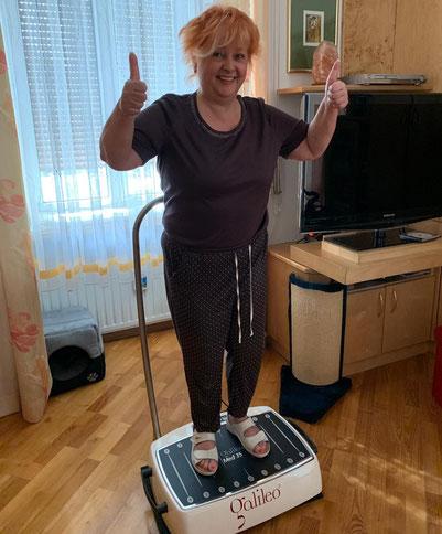 Frau L. (CMT-Patientin) auf Galileo Med 35