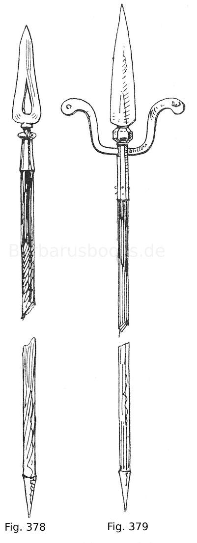Fig. 378. Gemeiner Stuckknechtspieß. Italienisch. 17. Jahrhundert.