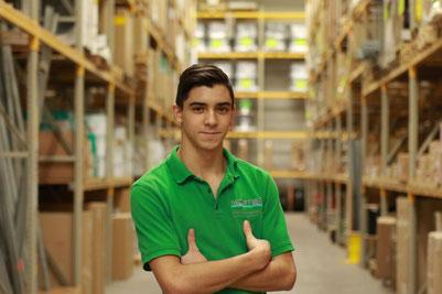 Bild mit Beispiel Shooting Business. Mitarbeiter der Forma Moster Elektrogroßhandel in Ludwigshafen.