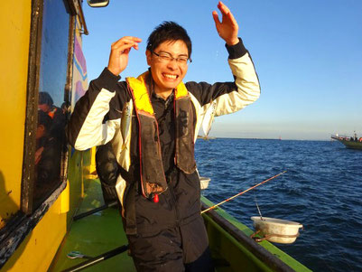 釣れたときは本当にうれしいです!釣りにはまってしまいそう。