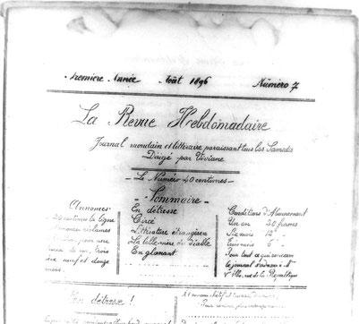 La Revue Hebdomadaire (N° 7, août 1896)
