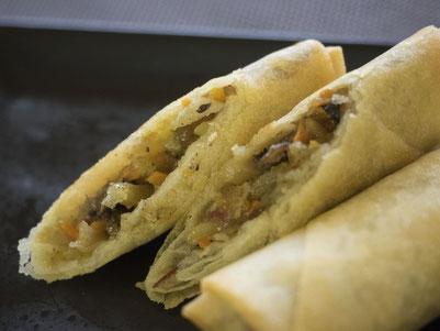 麺皮春巻:具材は国産野菜玉子春巻と一緒のバージョンです。
