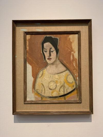 シャルフベック「占い師(黄色いドレスの女性)」