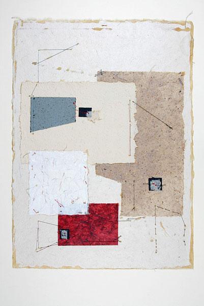 Uta Arnhardt, Papier-auf-Papier-Collage
