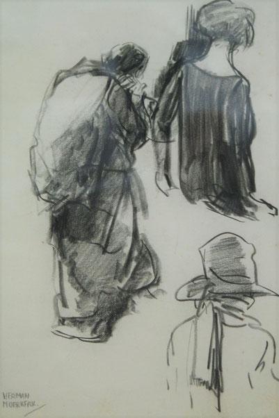 te_koop_aangeboden_een_houtskooltekening_van_de_nederlandse_kunstenaar_herman_moerkerk_1879-1949