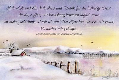 Schneelandschaft Gedicht