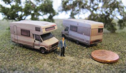 Wohnmobilmodelle Spur N (1:160) - bei Interesse auf Bild klicken