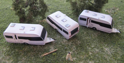 Wohnwagenmodelle Spur N (1:160) - bei Interesse auf Bild klicken