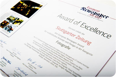 European Newspaper Award 12+1 - Award of Excellence - Kategorie Fotografie
