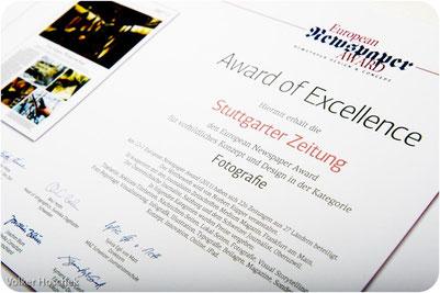 European Newspaper Award 12+1 - Award of Excellence - Kategorie Fotografie