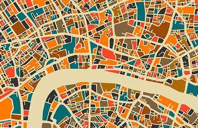 графика карты городов