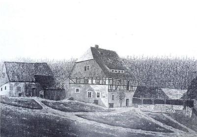 Bild: Klatzschmühle Wünschendorf Erzgebirge Lautenbachtal 1860